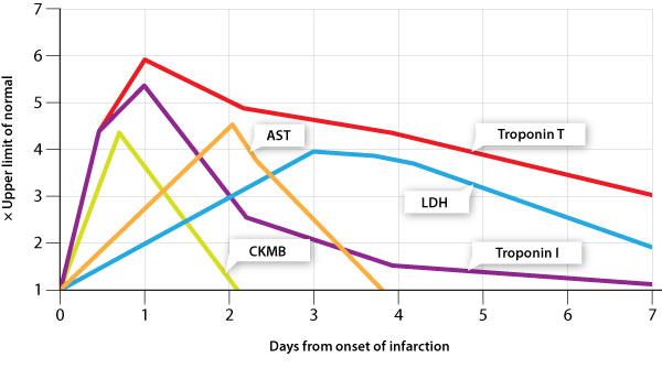 Figure 2 Temp Release Patterns Of Troponins Ckmb Ast And Ldh11 12