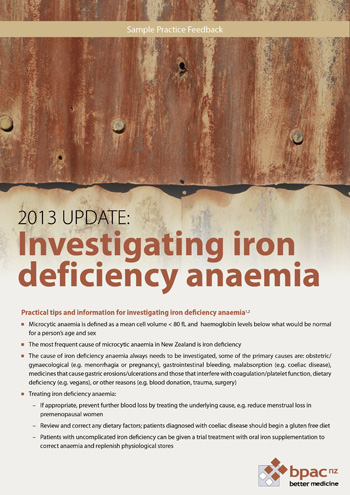 Investigating iron deficiency anaemia
