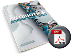Antibiotics Guide, choices for common infections - 2017